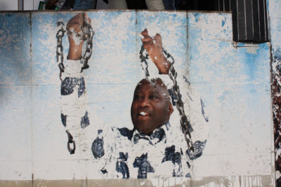 A mural of former President Laurent Gbagbo in Cote d'Ivoire. Credit: Clara Sanchiz