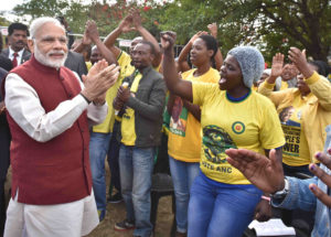 Prime Minister Narendra Modi of India on a visit to South Africa in 2016.