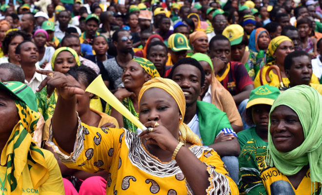 Crowds at the inauguration of Tanzania's President John Magufuli in 2015. Credit: GCIS.