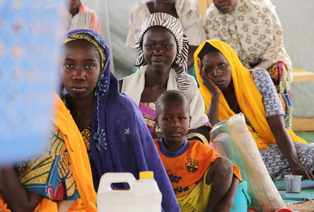 At a camp for refugees in Minawao, Cameroon, near the border with Nigeria. Credit: OCHA/Ivo Brandau.