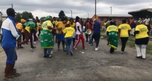 South Africa protest: A protest in Colenso earlier this month. Credit: Michaela Steele.