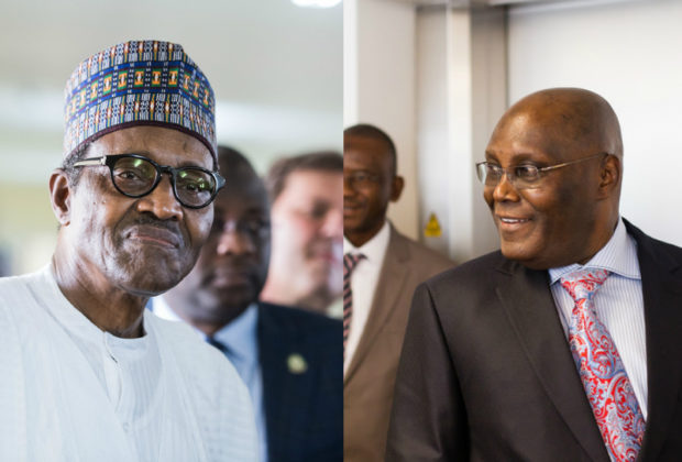 Nigeria 2019: Nigeria's presidential race looks set to be a two-horse race between President Muhammadu Buhari (left) and former Vice-President Atiku Abubakar. Credit: Presidence du Benin/LSE Africa Summit.
