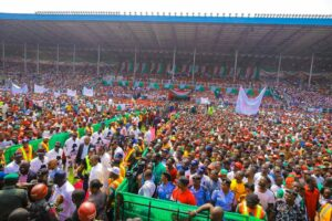 Nigeria election risks: An opposition rally ahead of Nigeria's finely poised 2019 elections. Credit: Atiku Abubakar campaign.
