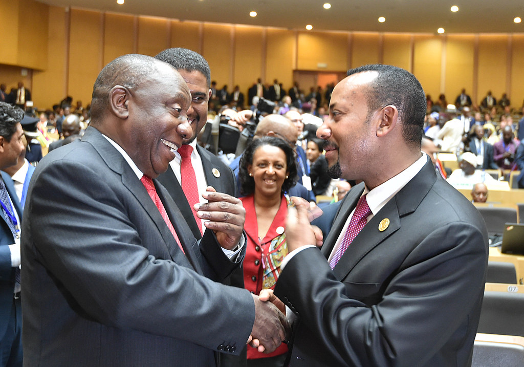 Abiy Doctrine. Prime Minister of Ethiopia Abiy Ahmed at the African Union summit in February 2019. Credit: Kopano Tlape/GCIS