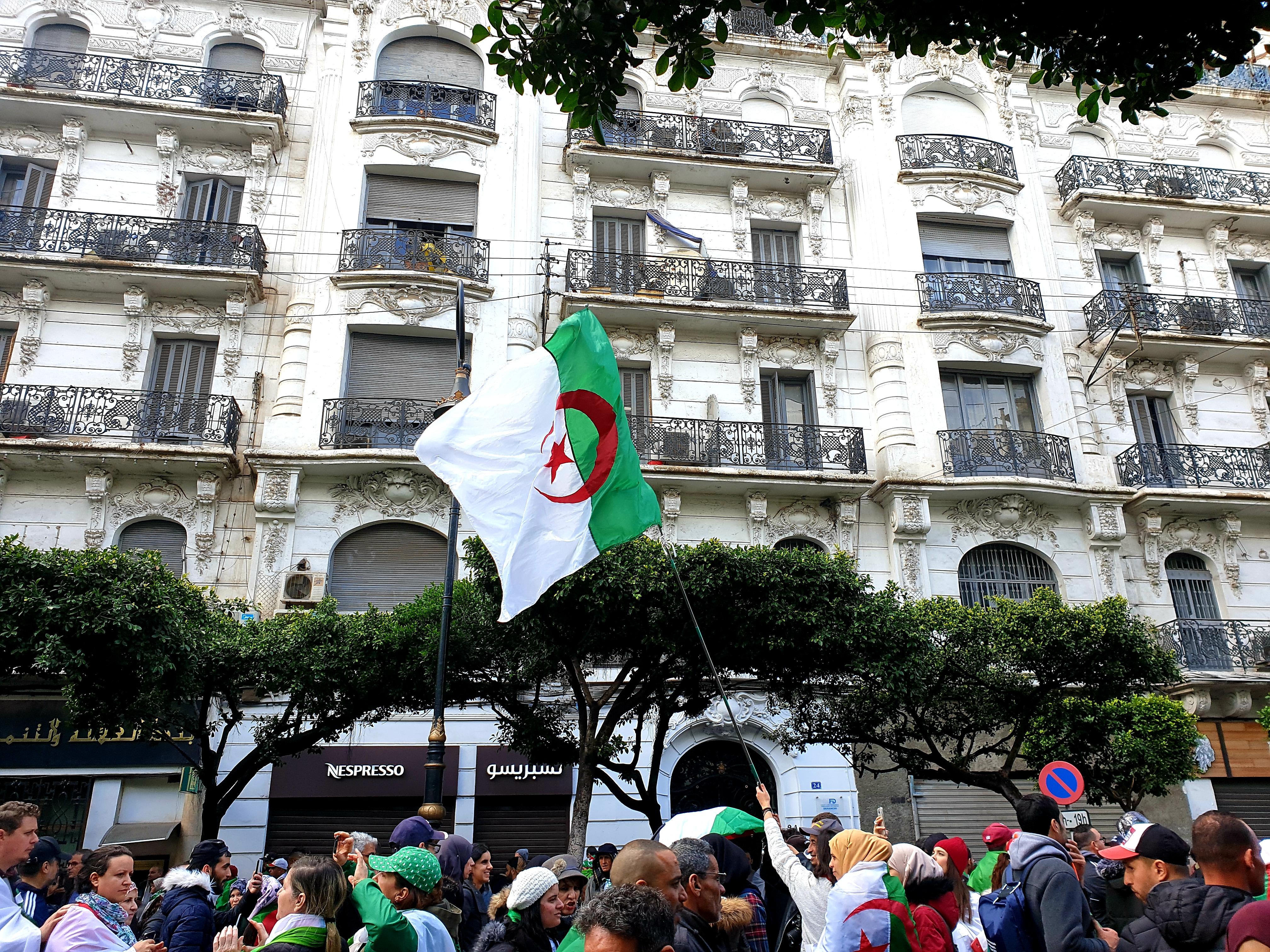 Algeria protests on 22 March. Credit: Faten Aggad.