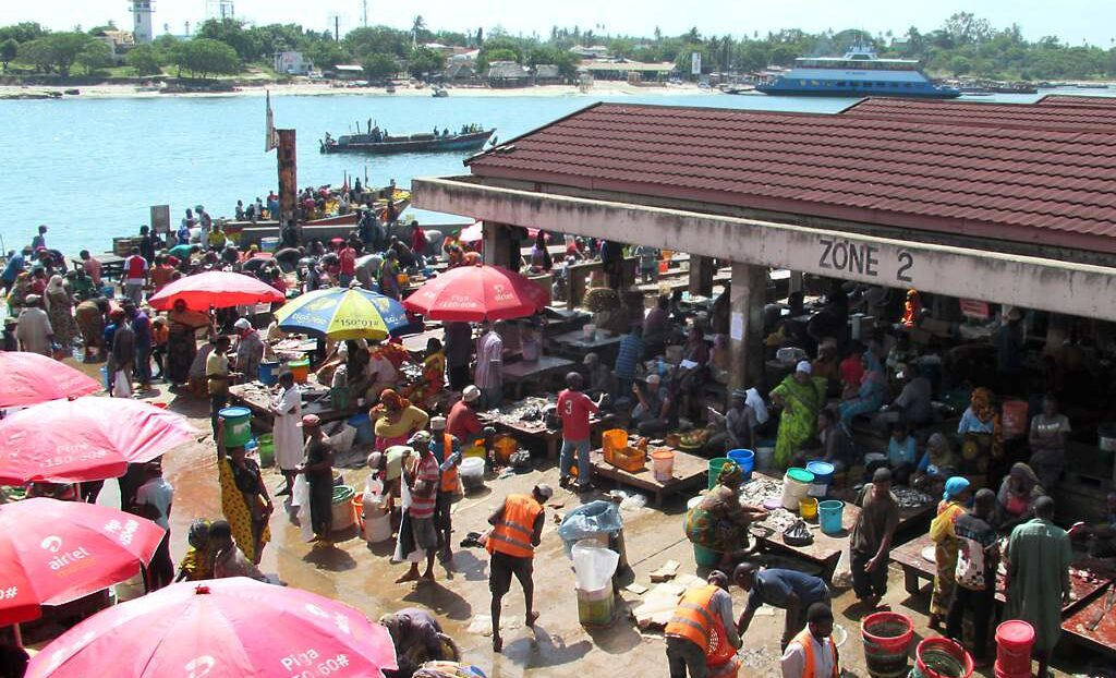 Kiswahili: At Mzizima fish market in Dar es Salaam, the heart of Swahili country, Tanzania. Credit: David Stanley.