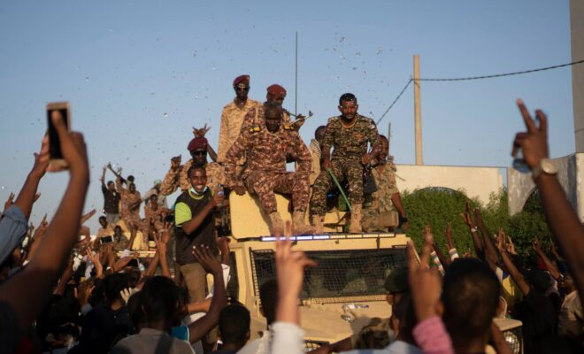 Many rank-and-file soldiers have vowed to protect the protesters against attacks as the Sudan transition continues. Credit: M.Saleh.