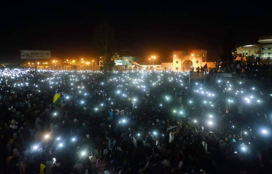 From the night of 7 April in Khartoum, Sudan.