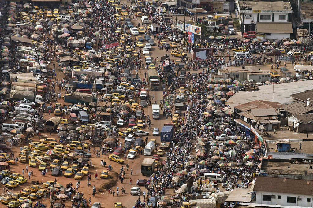 An aerial view of Monrovia, Liberia, which saw thousands of people take to the streets to protest earlier this month. Credit: UN Photo/Christopher Herwig.