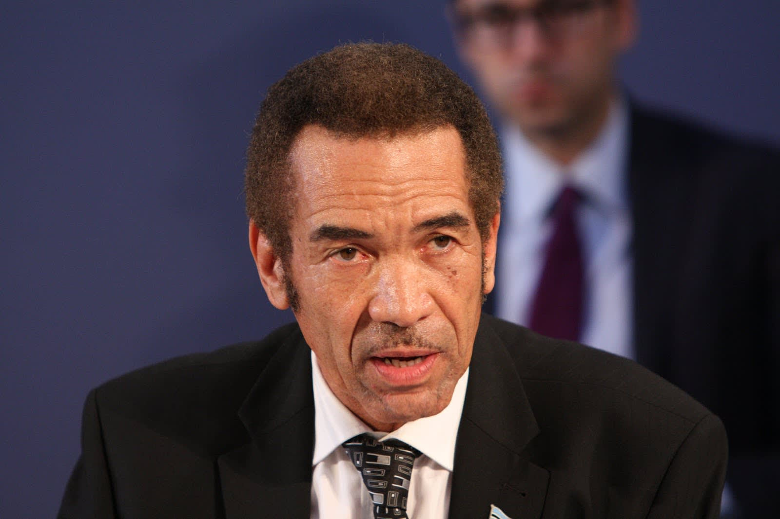 Former President Ian Khama of Botswana at the London Conference on The Illegal Wildlife Trade, 13 February 2014. Photo by Foreign and Commonwealth Office