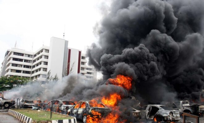 The August 2011 Boko Haram bombing outside the UN building in Nigeria's capital Abuja killed at least 21 people. Credit: Gbemiga Olamikan.