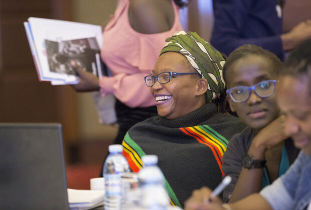 Dr Stella Nyanzi at a human rights conference in 2018. Credit: Chapter Four Uganda.