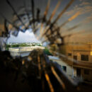 Africa war: A view of the skyline beyond the northern suburbs of Mogadishu is seen through a bullet hole in the window of a hotel in the Yaaqshiid District of Mogadishu, where African Union Mission in Somalia (AMISOM) forces have pushed Al Shabaab militants beyond the city's northern fringes to the outskirts of the Somalia seaside. Credit: UN Photo/Stuart Price.