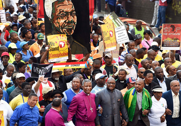 A march against xenophobia following attacks on foreign nationals in South Africa back in 2015. Credit: GCIS.