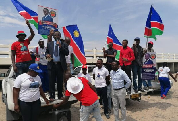 Panduleni Itula, a presidential contender in the Namibia elections, at a rally in November 2019. Credit: Dr Panduleni F B Itula.