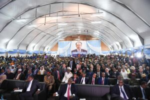 Somalia elections: At President Farmaajo's inauguration in 2017. Credit: AMISOM/ Ilyas Ahmed