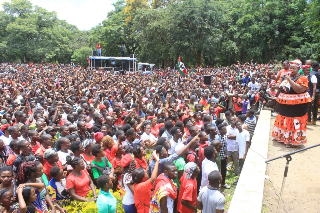 A rally held by the opposition Malawi Congress Party (MCP) shortly after constitutional court's verdict annulling the May 2019 elections. Credit: MCP.
