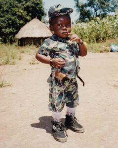 Ali Kony, as a toddler, in 2003. (c) Kristof Titeca, ARLPI.