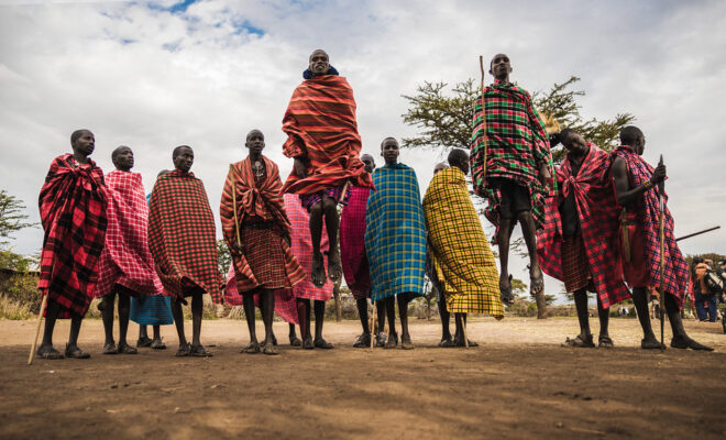 The Masai, based in Tanzania and Kenya, are one of many indigenous peoples that have long been stewards of Africa's wildlife and ecosystems. Conservation. Credit: Pablo Fernández.