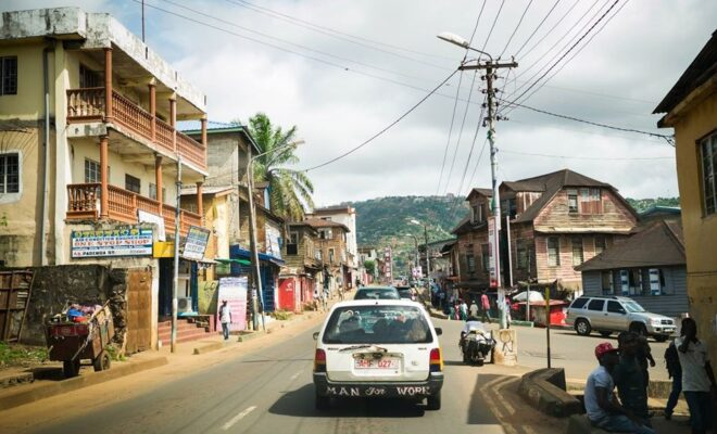 On the streets of Freetown, Sierra Leone. Credit: Rhiannon McCluskey.
