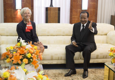 cameroon and covid-19 President Paul Biya meeting with IMF director Christine Lagarde in 2016. Credit: IMF Staff Photo/Stephen Jaffe.