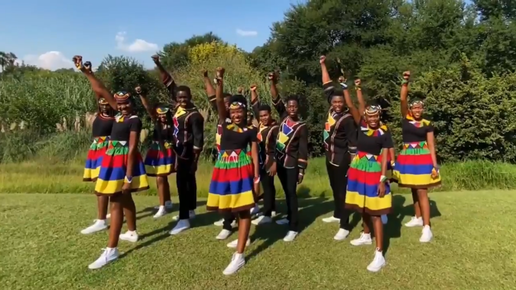 The Ndlovu Youth Choir is one of many groups of young people spreading information about COVID-19. Credit: @ChoirAfrica.