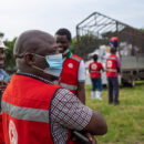 Uganda minorities. The Uganda Red Cross distribute support in the western Rwenzori mountains, which faced both the COVID-19 pandemic and floods in May 2020. Credit: Climate Centre.