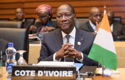 President Alassane Dramane Ouattara looks set to secure a controversial third term in the Côte d'Ivoire presidential election. Credit: Présidence de la République du Bénin.