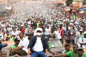 Cellou Dalein Diallo, the presidential candidate for the opposition Union of Democratic Forces of Guinea (UFDG) on the campaign trail ahead of the Guinea elections. Credit: UFDG.