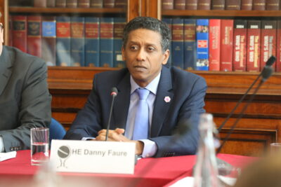 Will incumbent Danny Faure be re-elected in the Seychelles elections? Credit: Chatham House.