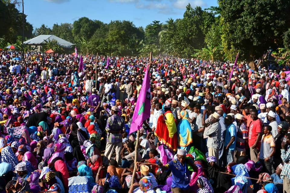 An October election rally held by ACT-Wazalendo, one of Tanzania's leading opposition parties along with Chadema. Credit: ACT-Wazalendo.