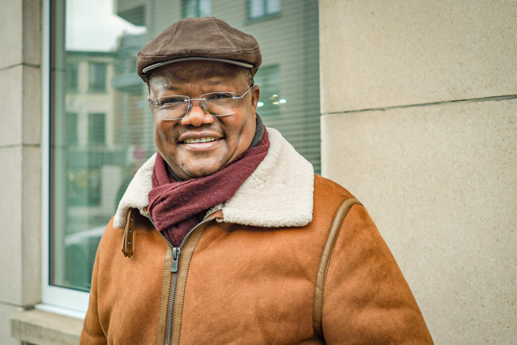 Tundu Lissu. This portrait was taken during my visit to Belgium in February 2020, before he returned to Tanzania to run for president.