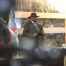 south sudan horn of africa President Salva Kiir at the swearing in of South Sudan's transitional government in February 2020. Credit: UN Photo/Isaac Billy.