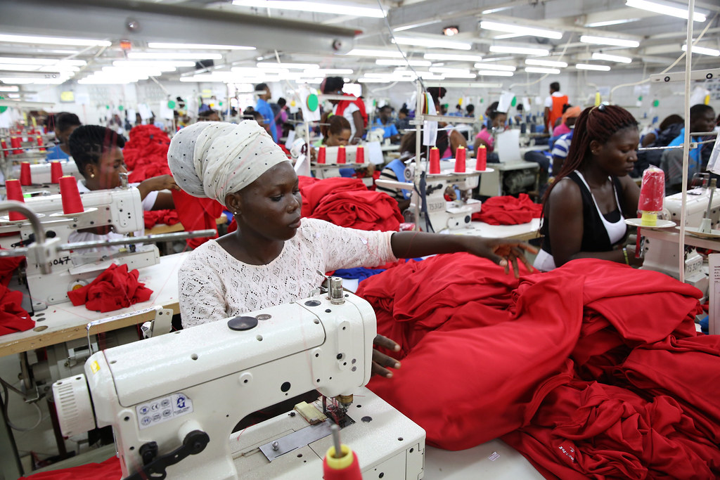 uk africa trade Dignity factory workers producing shirts for overseas clients in Accra, Ghana. Credit: Dominic Chavez/World Bank.