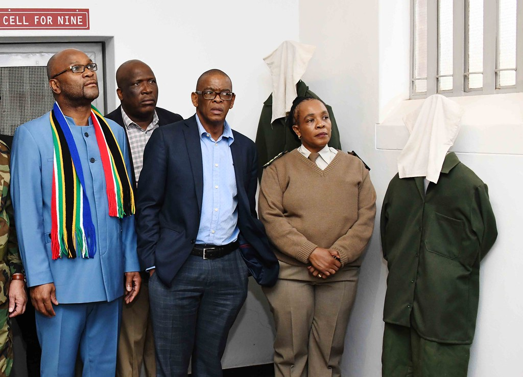 ANC Secretary-General Ace Magashule (third from left) at at the 40th commemoration of Solomon Kalushi Mahlangu. Credit: : GCIS. south africa corruption