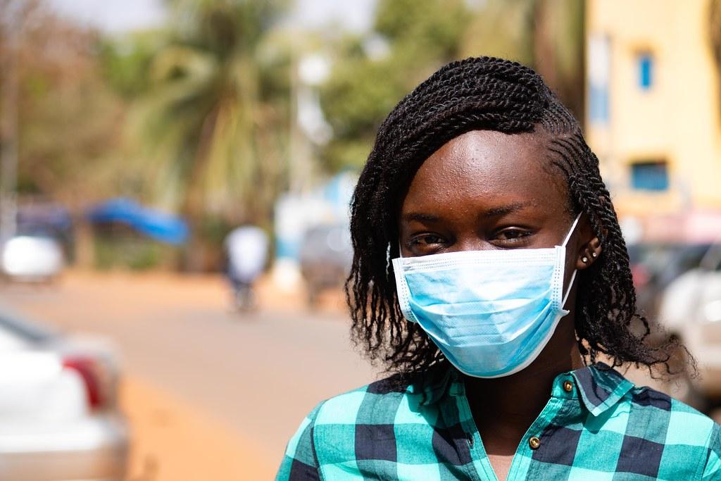 Africa coronavirus covid A woman in Mali wearing a mask. Credit: Photo: World Bank / Ousmane Traore.