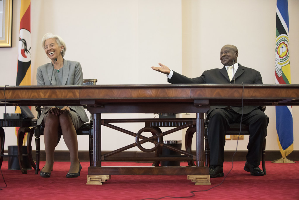 west President Yoweri Museveni meeting with then IMF Managing Director Christine Lagarde in 2017. Credit: IMF Staff Photograph/Stephen Jaffe.