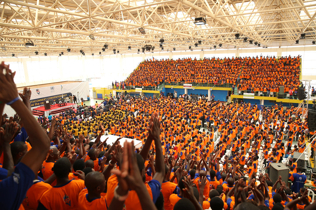 A youth convention in Rwanda in 2017. Credit: Paul Kagame.